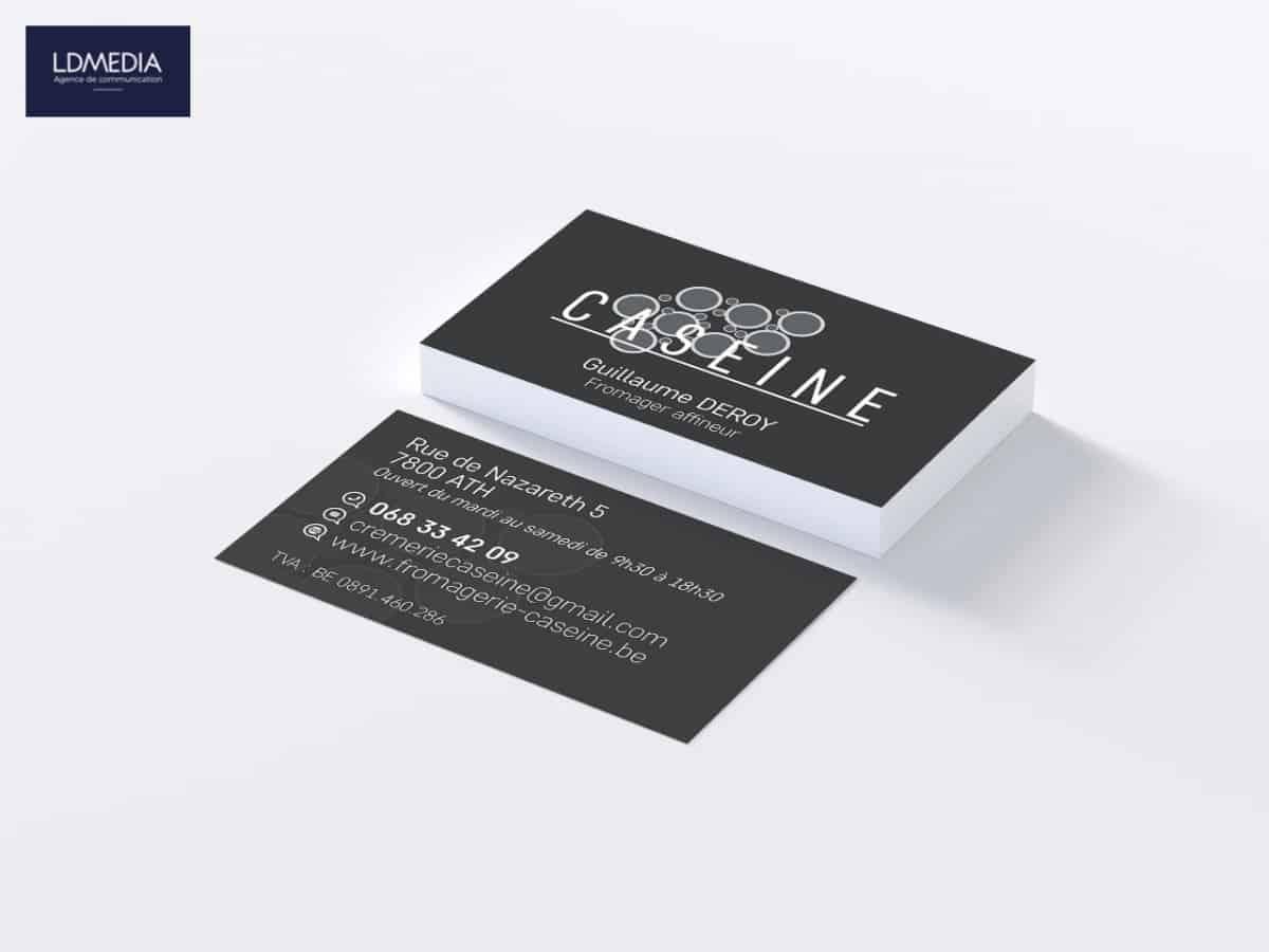 Fromagerie Caséïne • Cartes de visite
