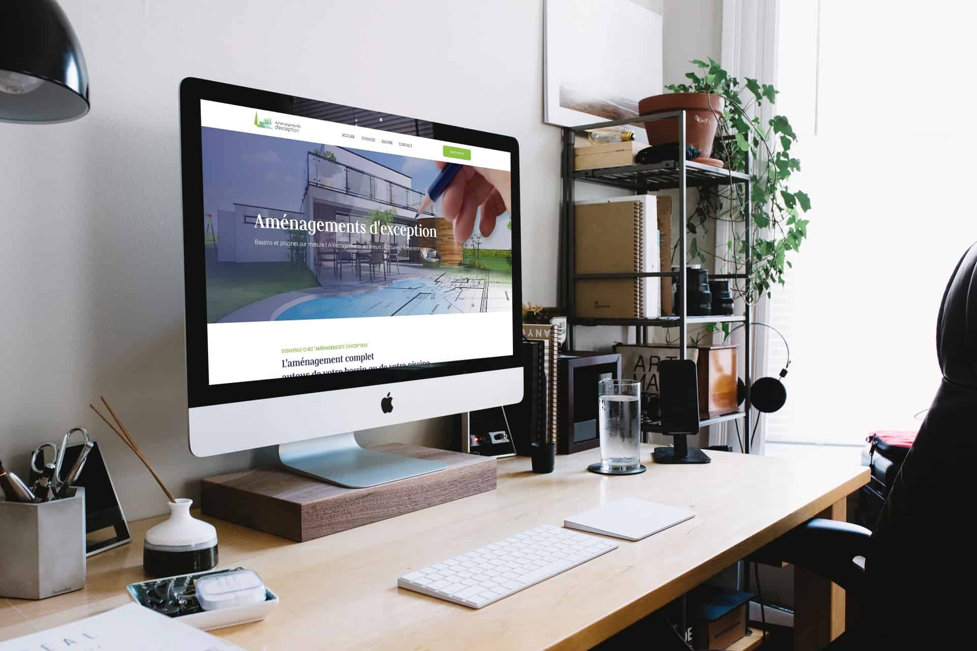 Aménagements d'exception | Création du site web | LD Media